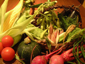 契約農家の方々から提供された 福島の野菜