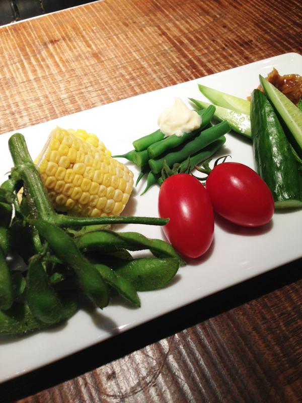 会津の野菜盛り