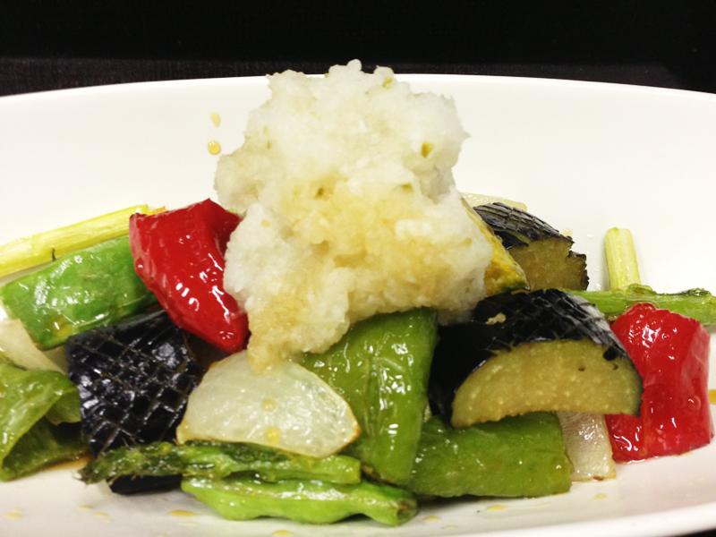 夏野菜の揚げポン酢